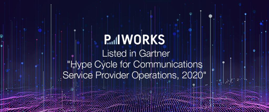 P.I. Works Listed in Gartner's Hype Cycle for Communications Service Provider Operations, 2020